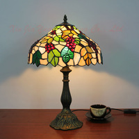 Free Shipping Tiffany Style Stained Glass Table Lamp Lustre Handmade Lampshade Christmas Decorations For Home Light Fixtures