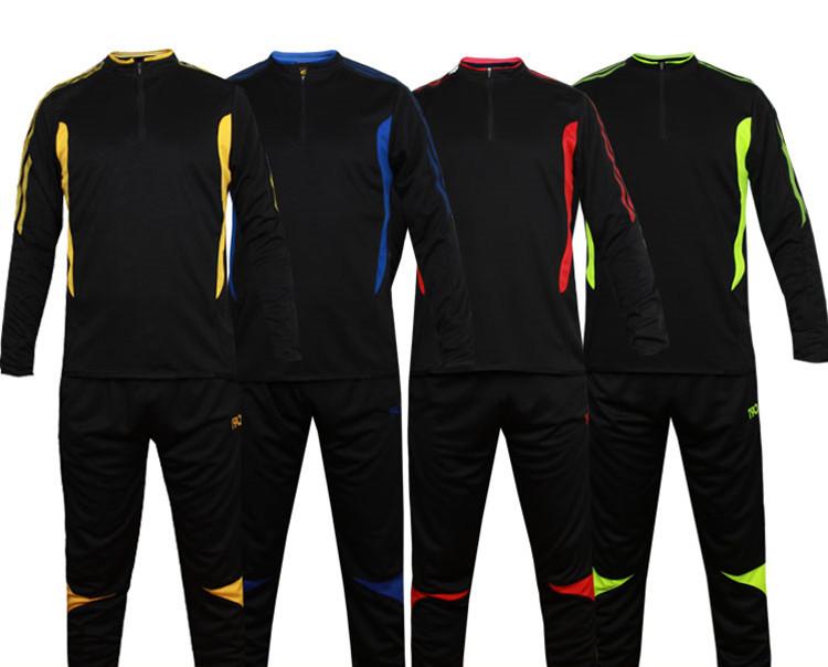 Football soccer clothing shirt short long-sleeve training jerseys set child adults paintless clothes trousers team logo print(China (Mainland))
