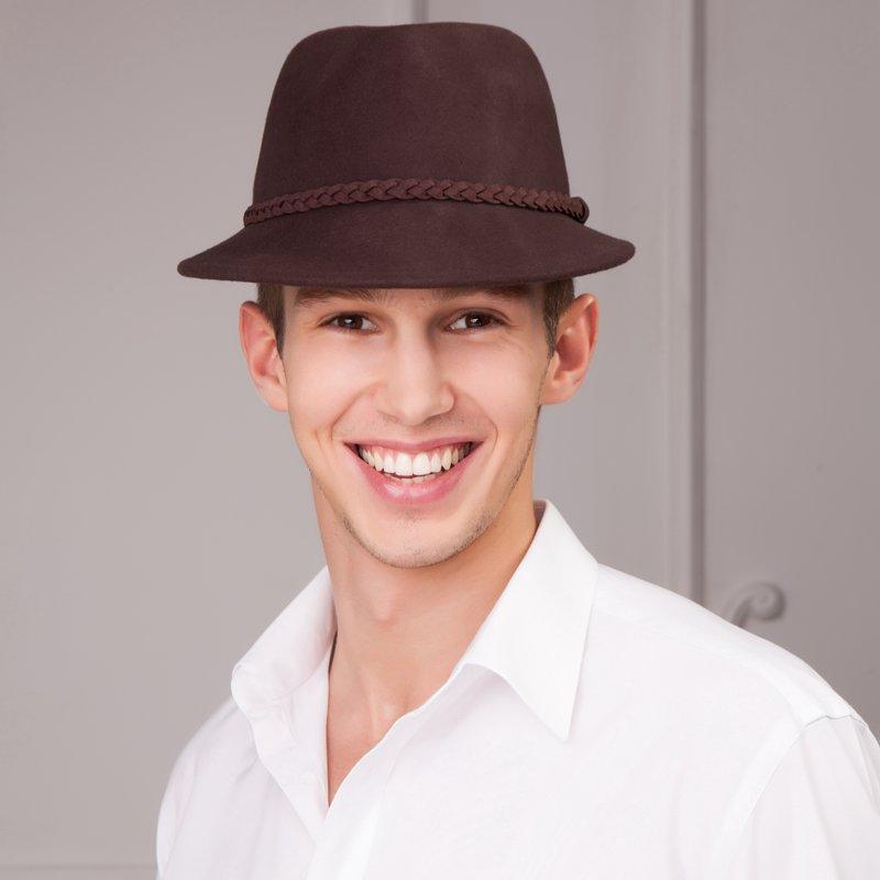 Winter Wool Trilby Hat Men