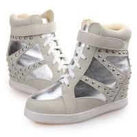 Autumn/winter 2014 the latest hi-thick bottom rivet increased Korean girls casual sneaker