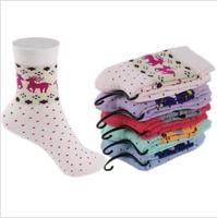 10pairs/lot 2014 New Arrival Print Cartoon Warm Thick Winter Women Cotton Socks Girls Socks Free Shipping