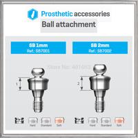 BALL ATTACHMENT+BALL METAL CAP+SILICON CAP SET -  BIO-EFFECT,  HIGH-END QUALITY ATTACHMENT,TITANIUM MATERIAL abutment dentes