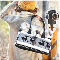 free shipping fashion winter women's shoulder bags Europe style deer casual handbags