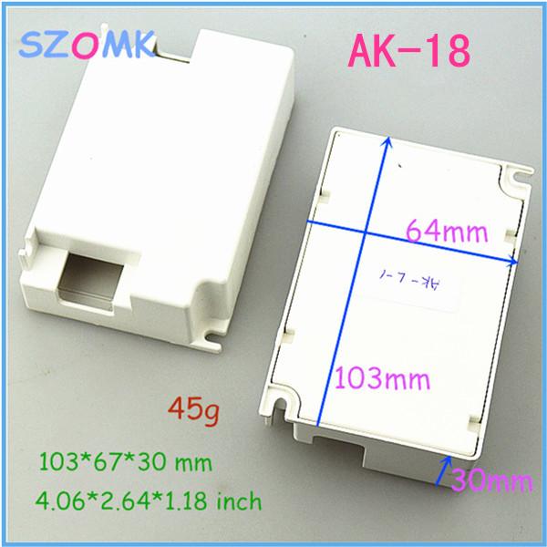 szomk switch box distribution enclosure (10 pcs) 103*67*30mm customizable electronics enclosures for pcb diy plastic box(China (Mainland))