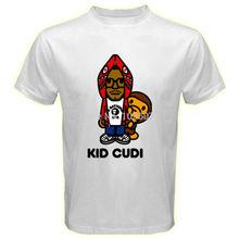 New Arrival Kid Cudi And Baby Milo Music Hip-Hop Men T Shirt Short Sleeve Camisetas T Shirts Cotton Printed Custom Casual Tees(China (Mainland))