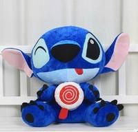 Children Stuffed Toy baby plush toys blue stich birthday gift doll 40cm
