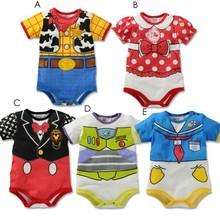 Newborn baby costume Boys carters baby girl Girls Cartoon romper Short sleeves carters original Infants roupas de bebe menino(China (Mainland))