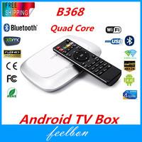 Feelbon B368 RK3288 android TV BOX Quad Core Cortex A17 1.8GHz Android 4.4 4K FHD 1080P Media Player 2G/16G BT4.0 H.265
