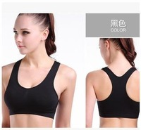 6pcs/lot,Free Shipping cheap Women's sports Bras,pads support with yoga wear,women's Sports ware,2 colors available under bra