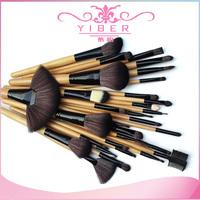 Trade selling imported makeup brush 32pcs  goat hair natural color makeup brush set makeup tool kits