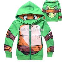 Fashion Brand Children Boys Jacket Teenage Mutant Ninja Turtles Hoodies Outerwear Ninja Turtles Coat for 3-10ages