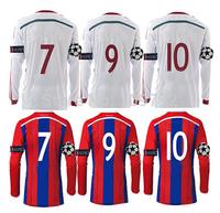 14-15 UEFA League long sleeve soccer shirt ROBBEN RIBERY soccer jersey GOTZE MULLER LAHM Lewandowski Football shirt UCL+Respect