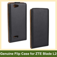 Luxury Genuine Leather Flip Cover Case for ZTE Blade L2 with Magnetic Snap Free Shipping