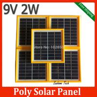 3pcs 9V 2W DIY Polycrystalline Silicon Solar Cell,Solar PV Panel  DIY Poly solar panel free shipping