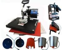 Advanced New Design 8 In 1 Combo Heat Transfer Machine,Sublimation/Heat Press Machine For Plate/Mug/Cap/TShirt /Phone case Etc
