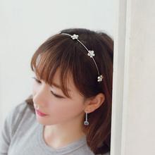 Top sell hair jewelry fake diamond bow Korean small jewelry pearl hairpin hair hoop headband women