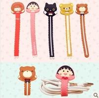 Cute cartoon small zigzag winding device Headset cord