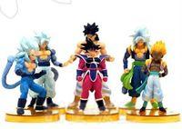 "New 6pcs/set Q Dragon Ball Figure PVC Anime TV 6"" Wukung Goku Doll Cartoon toy"