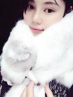 Fox muffler scarf cape winter thermal natural fur white fox fur