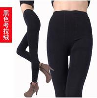 Women Leggings fitness Bamboo Carbon Fiber Leggings Double Thermal Warm Footless Pants calca legging