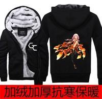 Japanese Anime Guilty Crown Hoodies Men's Jacket Sweater Couple Jacket Hoodies Thickening Plus velvet Free Shipping