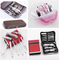 1SET 12PCS/1SET 9pcs Manicure Set Pedicure Tools Kit Nail Tools Nail Clipper scissors Travel KIt Nail Cutter Manicure Set & Kit