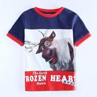 Wholesale C5553 Frozen Boys T shirt Summer T shirt Child Kids Tops Tees 2014 Fashion Children Clothing & Apparel 5pcs/lot