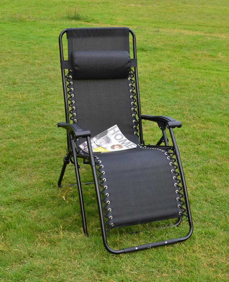 Venda quente interior e exterior Furnitue preto / carvão Loire Zero cadeira gravidade reclinar espreguiçadeira cadeira Folding Chair Metal(China (Mainland))