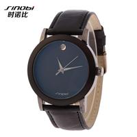 Classic luxury Stainless Steel Case Quartz Wristwatch,SINOBI Brand Analog Leather watch For Women Dress Watches Casual Clock
