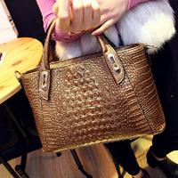 1428 crocodile shoulder bag lady handbags 2014 new European and American trends fashion Mobile Messenger bag big bag
