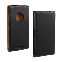 New For Nokia Lumia 830 Flip Vertical Cover Case High quality Leather Pouch Black Cover