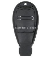 Free shipping Replacement Smart Remote Key Shell 2 Button+Panic With Key Blank Uncut for CHRYSLER JEEP VOLKSWAGEN Key Case Fob