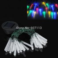 30 sets Solar Power 30 LED bubble bar Shape Outdoor Garden Yard String Light Christmas Party festival Decoration Lamp