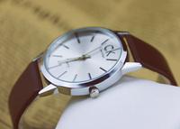 NEW 2014  Sales Leather Mens Man Quartz Watch Wristwatch ,Fashion Clock Men Luxury Sports watches Women Dress Watches