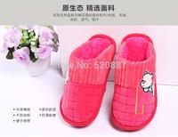 2014 winter new Surrounded half heel Thick bottom cotton slippers indoor slippers couple of men and women home floor trailer