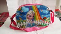 2014 Real Hot Sale Pillow Lace Zipper Character Bolsa Foreign Stock Frozen Diagonal Mirror Leather Shoulder Bag Lunch Children