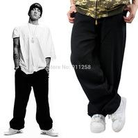 Eminem Plus Size Original Brand Mens Denim Jeans Fashion Hip Hop Cross Classical Black Baggy 44 Skateboard Pants For Man HipHop