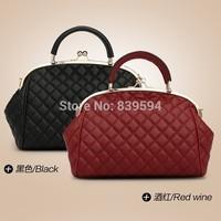 Dumpling bag 2014 new women retro bag Quilted handbag shoulder diagonal red wine banquet package parcel