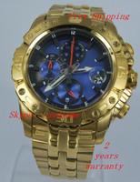 Men's Chronograph Tour de France F16542 Gold Stainless-Steel Blue  Dial Analog Quartz Watch