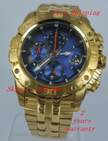 Men's Chronograph Tour de France F16542 Gold Stainless-Steel Blue  Dial Analog Quartz Watch