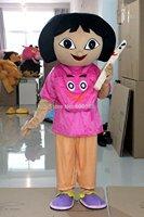 New adult mascot costume dora costume top fancy dress christmas cartoon character happy kids party costume