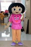 New adult mascot costume dora costume top fancy dress christmas cartoon character happy kids party costume