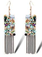 TIANSHE 2014 New brand handmade bohemia luxury crystal long sweet chandelier earrings for women with gift box,960
