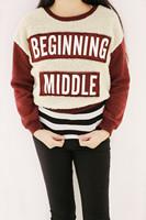 2014 Autumn and winter vintage plus size velvet applique patchwork letter print pullover short design sweatshirts 8103