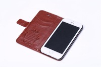 Top Quality With stand Flip Cover Leather Case For iphone 6 Plus + MOQ:50pcs Free DHL Shipping