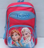 2014 New Children's School Bag fresh frozen backpack baby Cartoon Soft Plush Doll Backpack snow Queen Elsa Anna HOT SALE