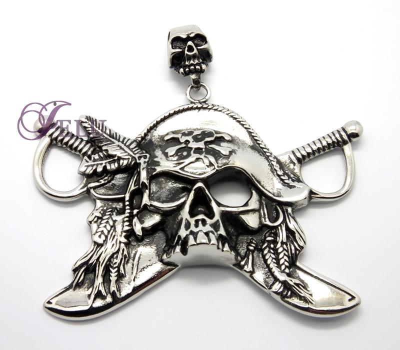 Men's Jewelry skull pendant Makin Stainless Steel Leather Chain fashion jewelry Metal Butterfly Pendants stain steel jewelry(China (Mainland))