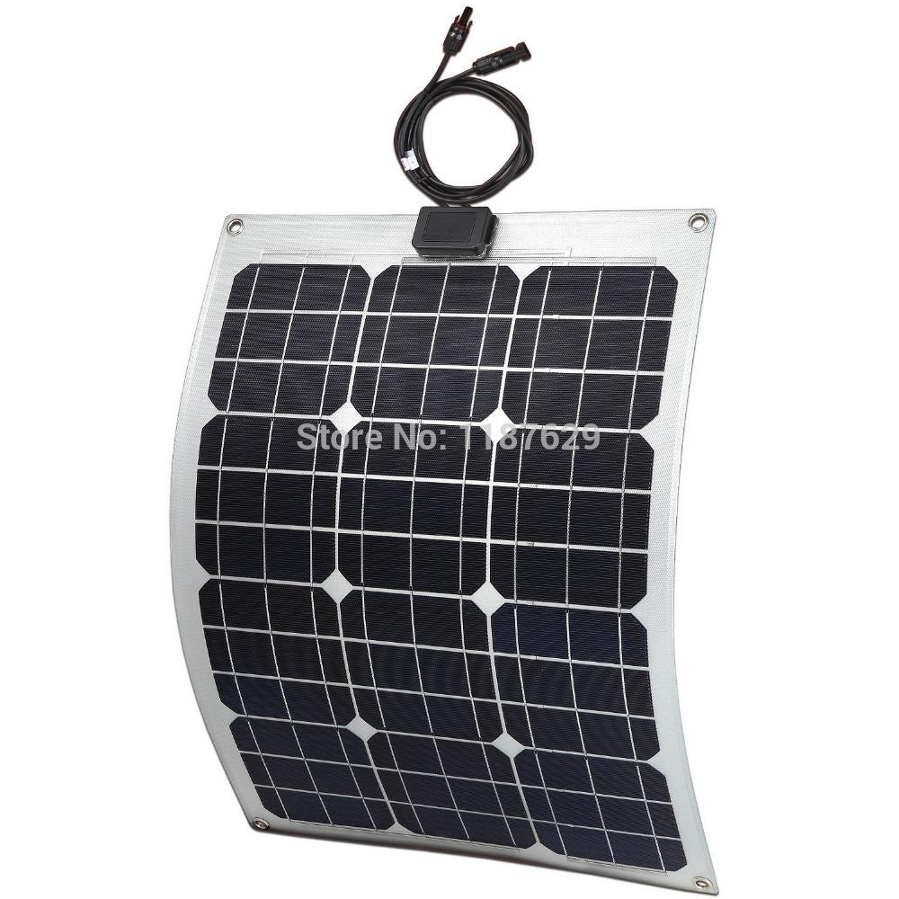 Light Weight Semi Flexible Solar Panel 30W(China (Mainland))
