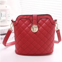 Fashion popular style all-match Plaid chain PU leather Bucket Bag/handbag/messager bag WLHB866