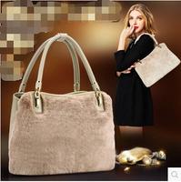 New winter rabbit fur trend women's bags fashion High quality leather handbag women's handbag  free shipping